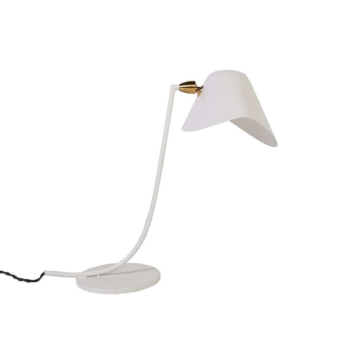 Mid Century Mouille Table Lamp - White