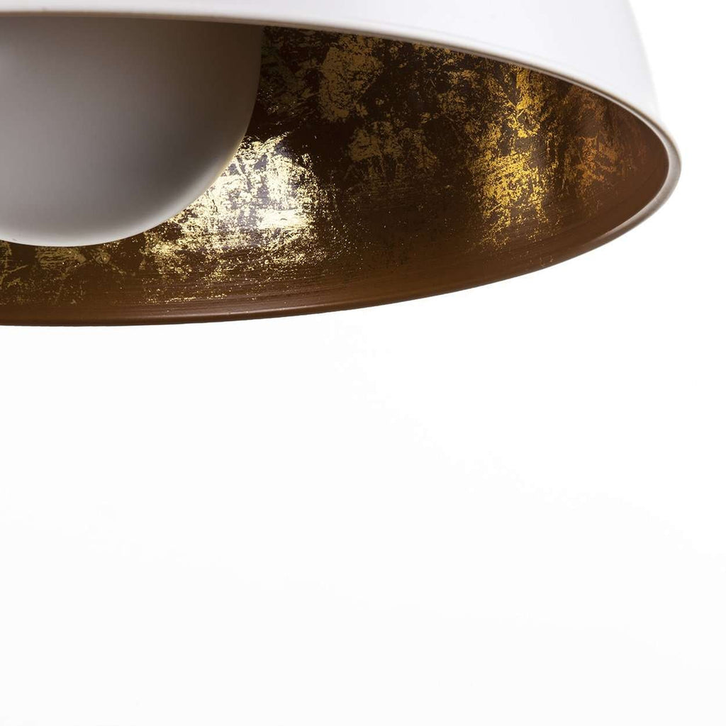 Cavan Pendant Lamp - White with Gold Interior  [new product]