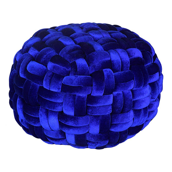 PJ VELVET POUF ROYAL BLUE