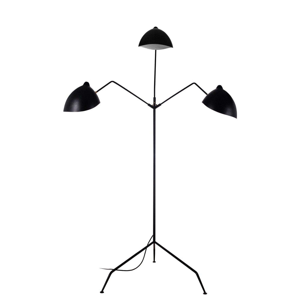 MFL-3 Floor Lamp - Three Arm - Black
