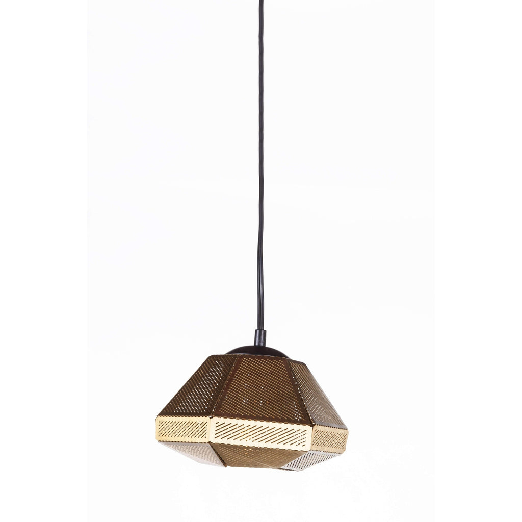 Cell Wide Pendant Lamp - Brass  [staff pick]