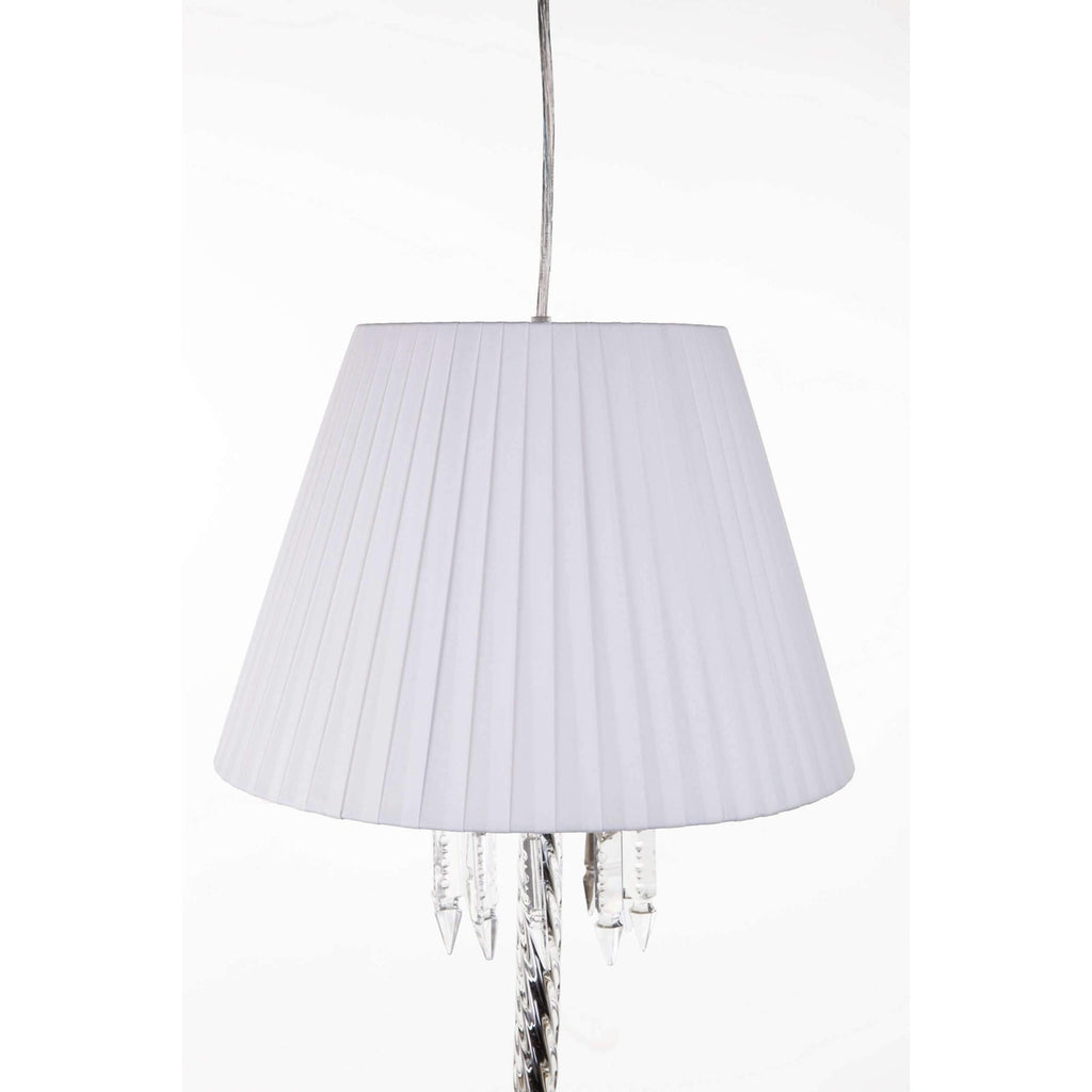 Modern Torch Pendant Lamp with White Shade  [staff pick]