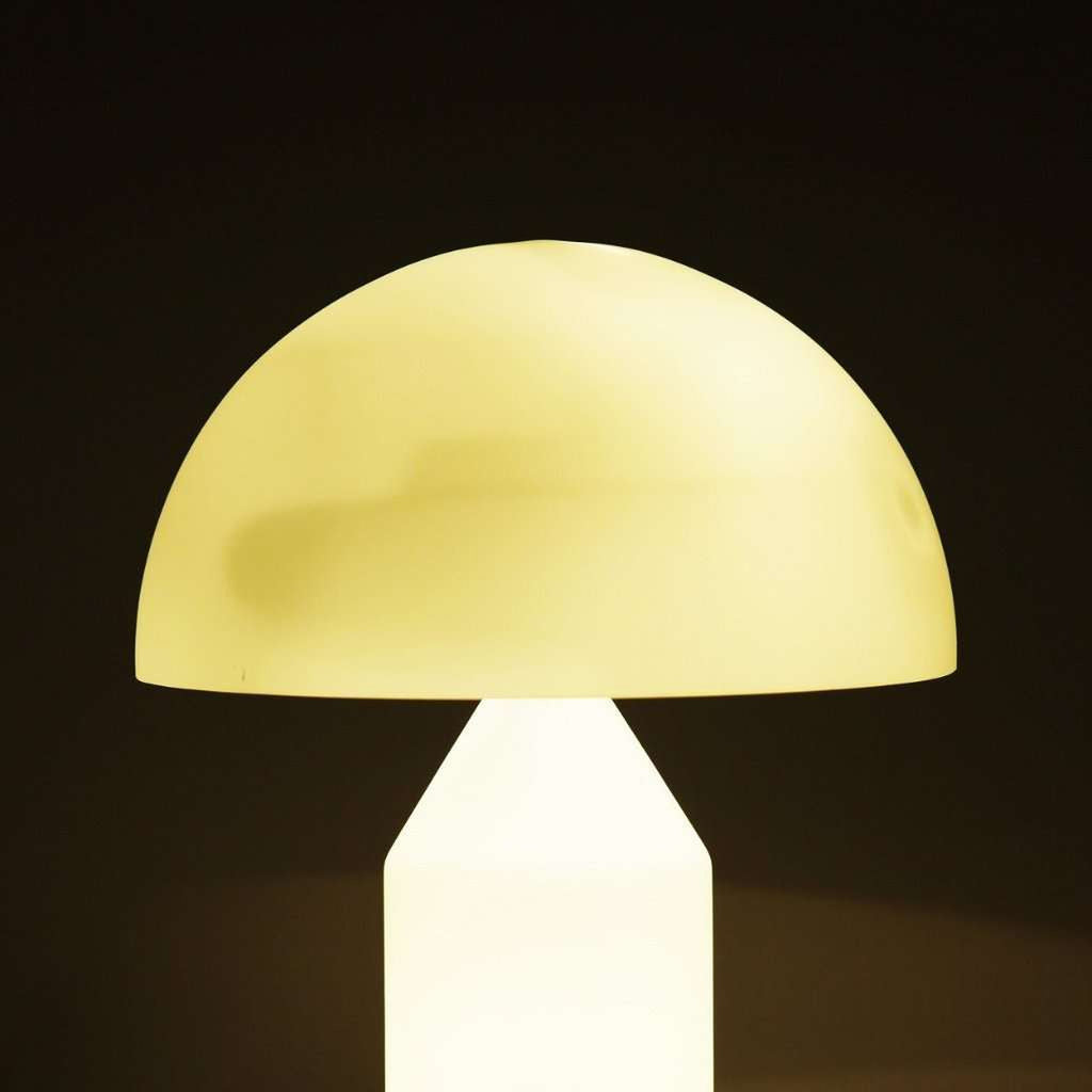 Mid Century Mushroom Table Lamp - Glass
