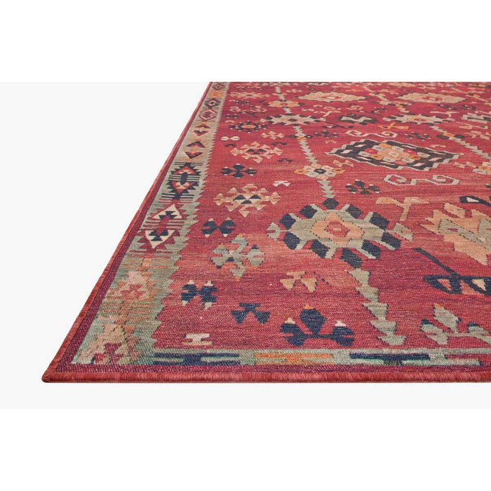Magnolia Home Lucca LF-02 Brick / Multi Area Rug