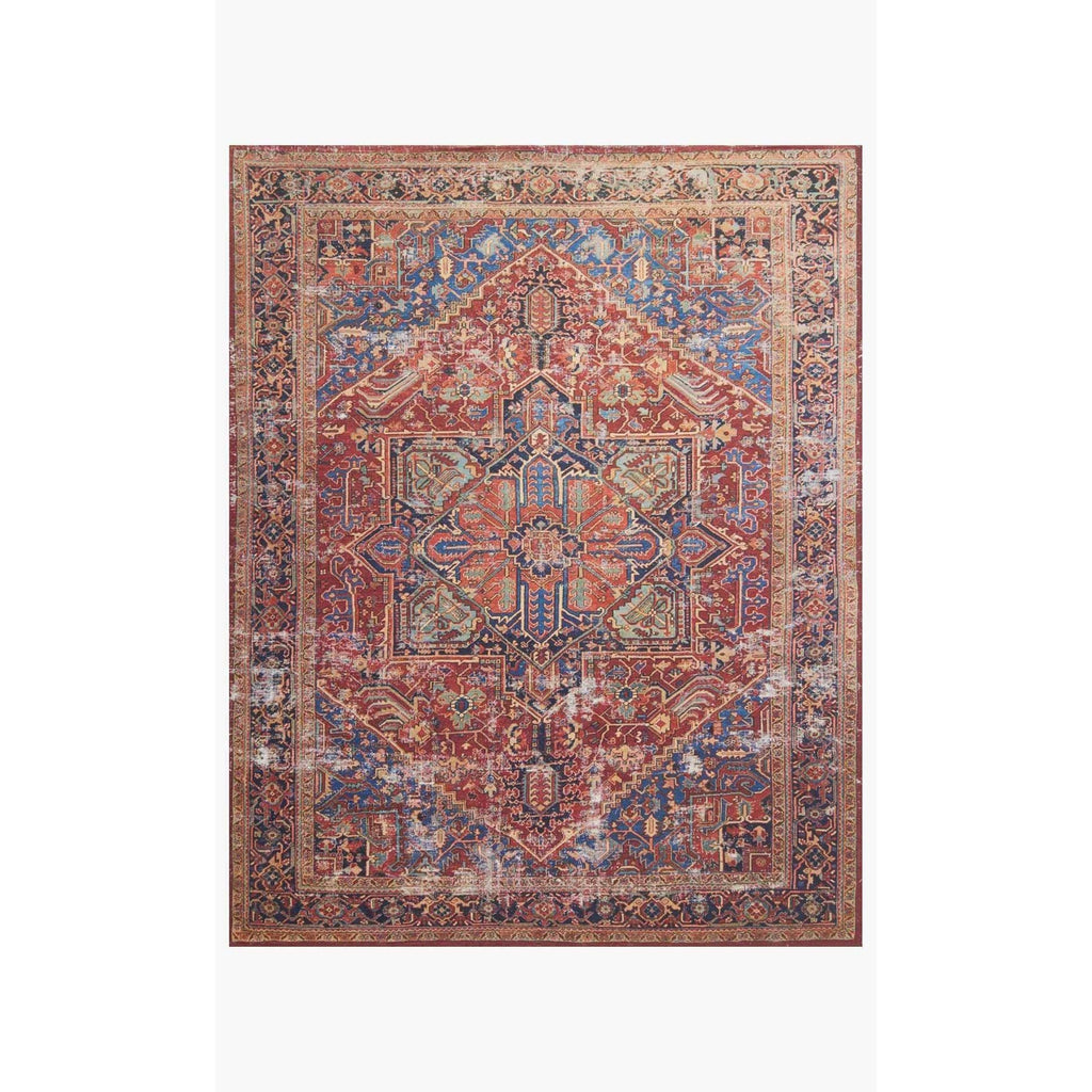Magnolia Home Lucca LF-09 Red / Blue Area Rug