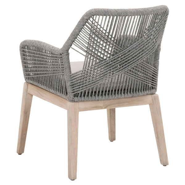 Loom Outdoor Dining Arm Chair, Set of 2