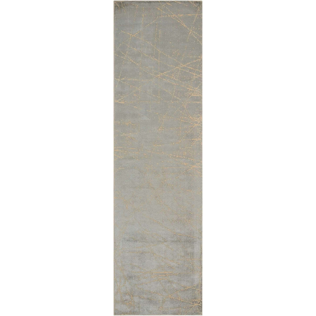 Calvin Klein Home Maya Etched Light Mercury Area Rug