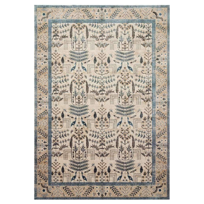 Rifle Paper Co Nairi Natural/Blue Area Rug