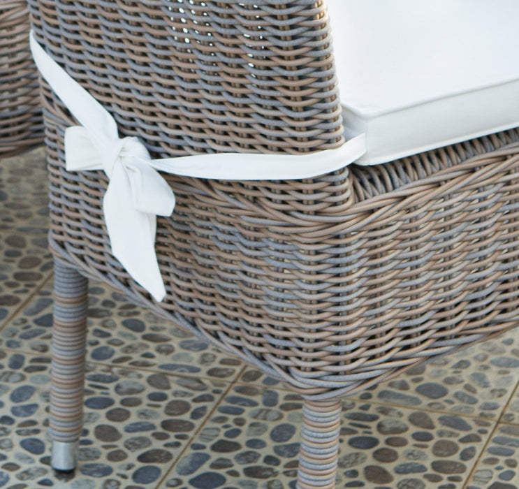 Outdoor Boca Chair -With White Outdoor Cushion