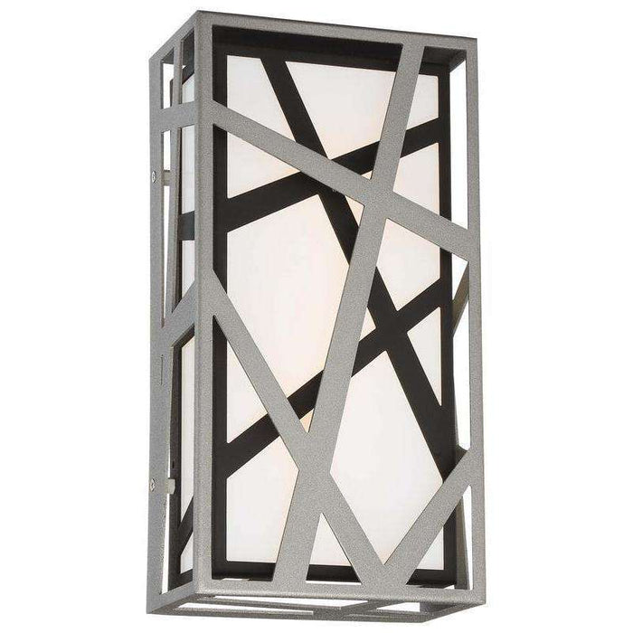 Outdoor Duvera Led Wall Sconce Sand Silver+Sand Black