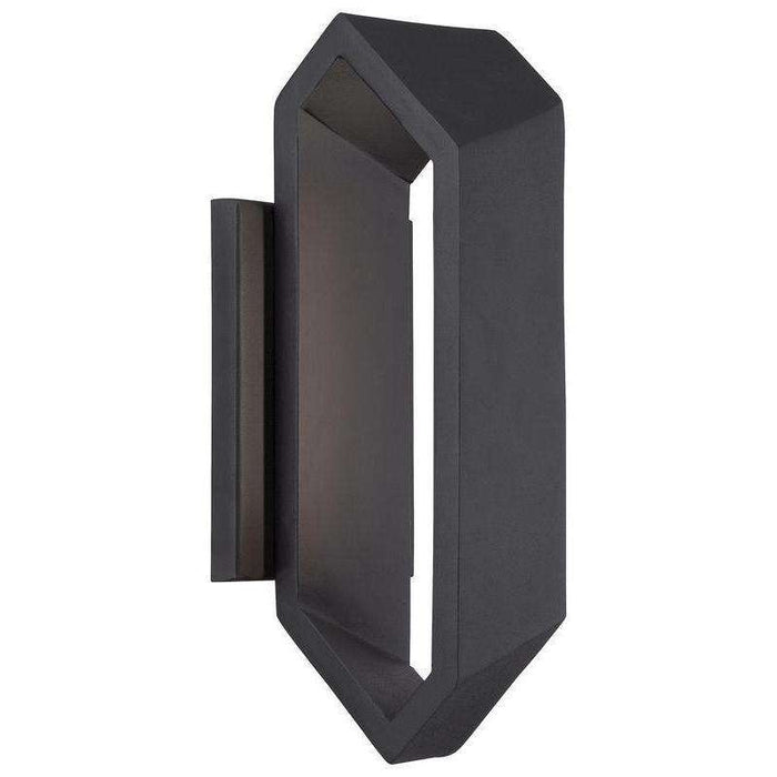 Outdoor Pitch Led Wall Sconce Black
