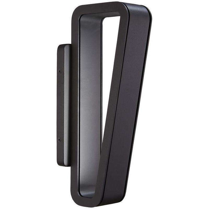 Outdoor Pediment Led Wall Sconce Black