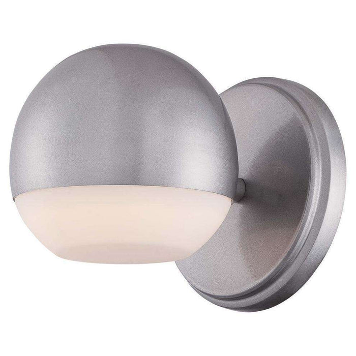 Outdoor Droplet Led Wall Sconce Silver Dust
