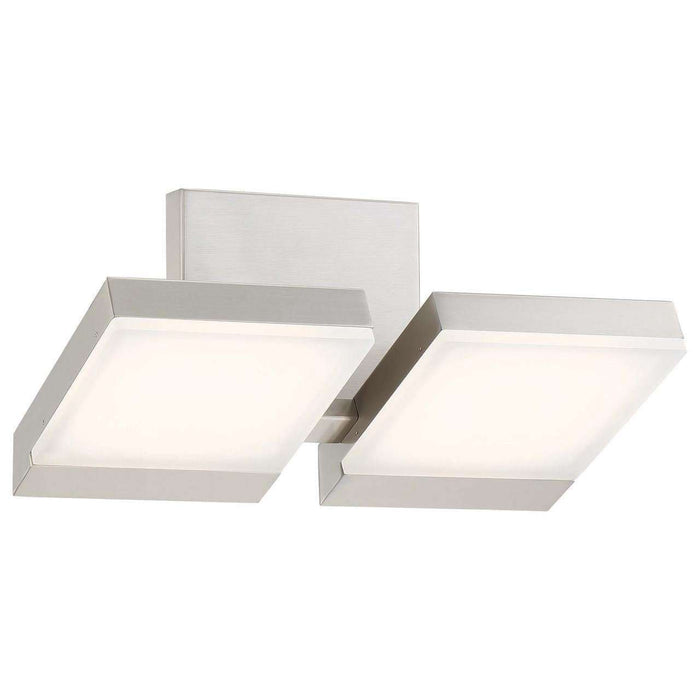 Angle 2 Light Led Bath Brushed Nickel