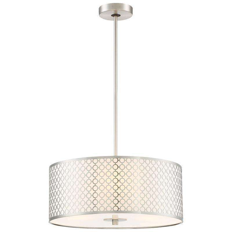 Dots 3 Light Pendant Brushed Nickel