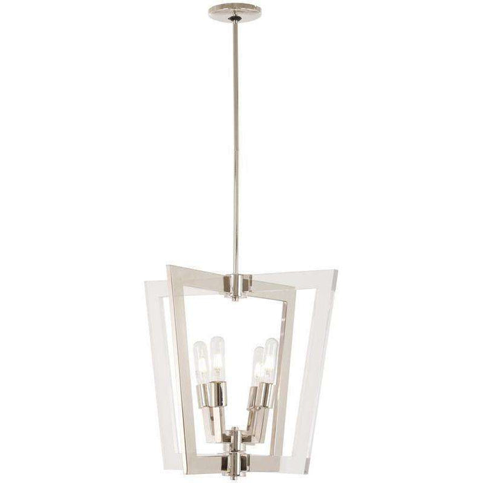 Crystal Chrome 4 Light Pendant Polished Nickel