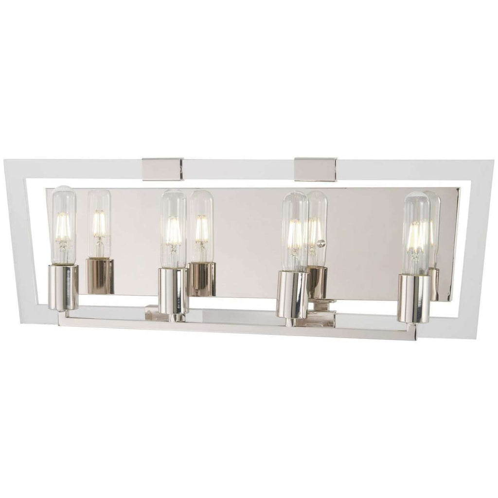 Crystal Chrome 4 Light Bath Polished Nickel