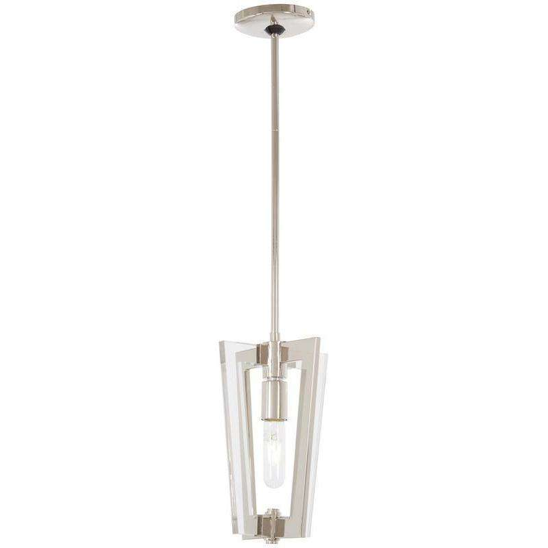 Crystal Chrome 1 Light Mini Pendant Polished Nickel