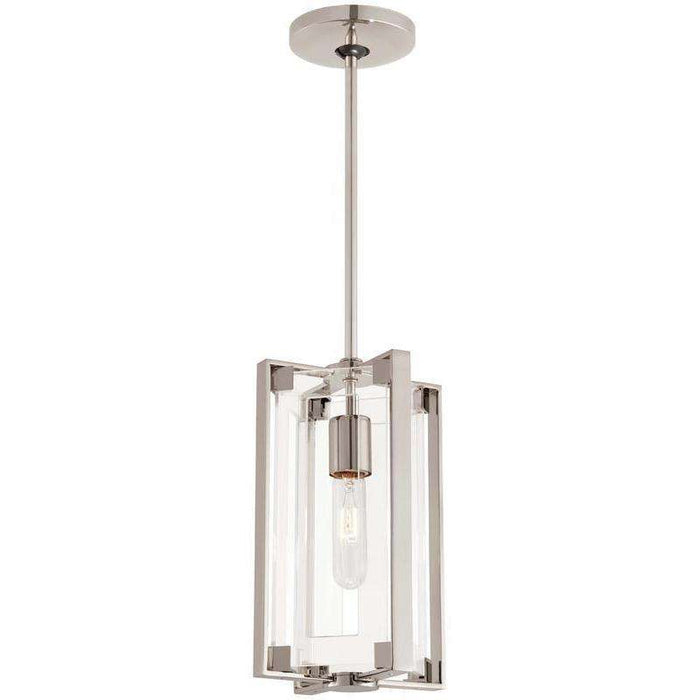 Crystal Clear 1 Light Mini Pendant Polished Nickel
