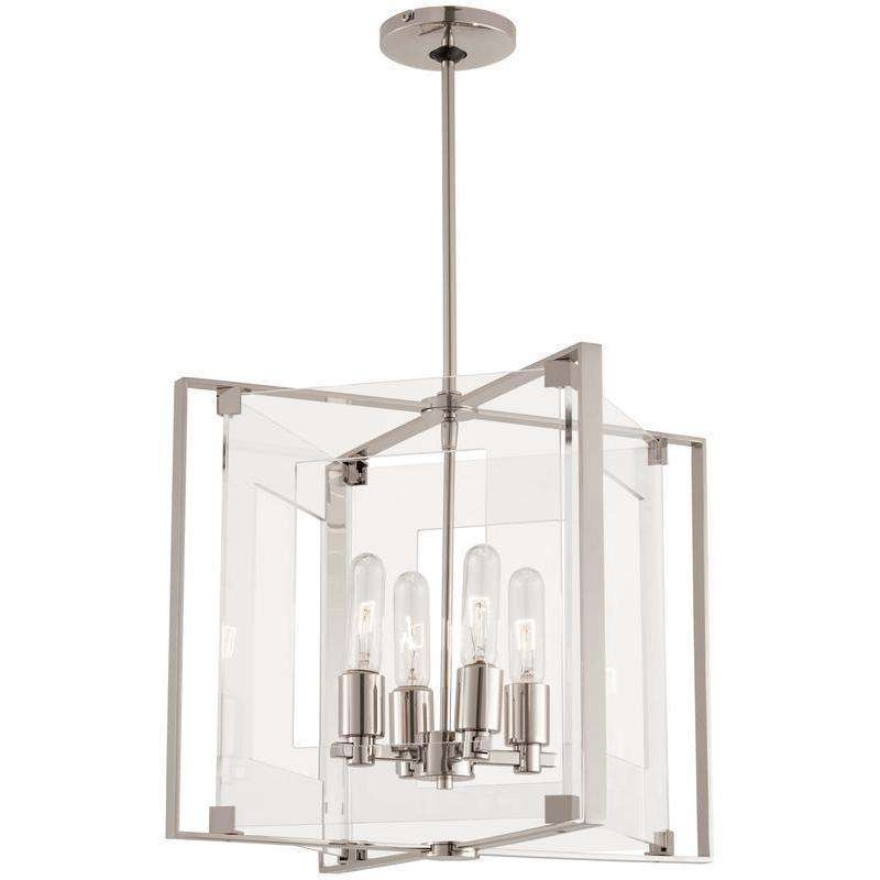 Crystal Clear 4 Light Pendant Polished Nickel