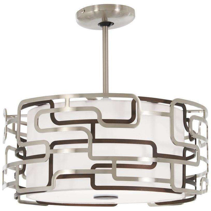 Alecia'S Tiers Led Pendant Brushed Nickel & Bronze Patina