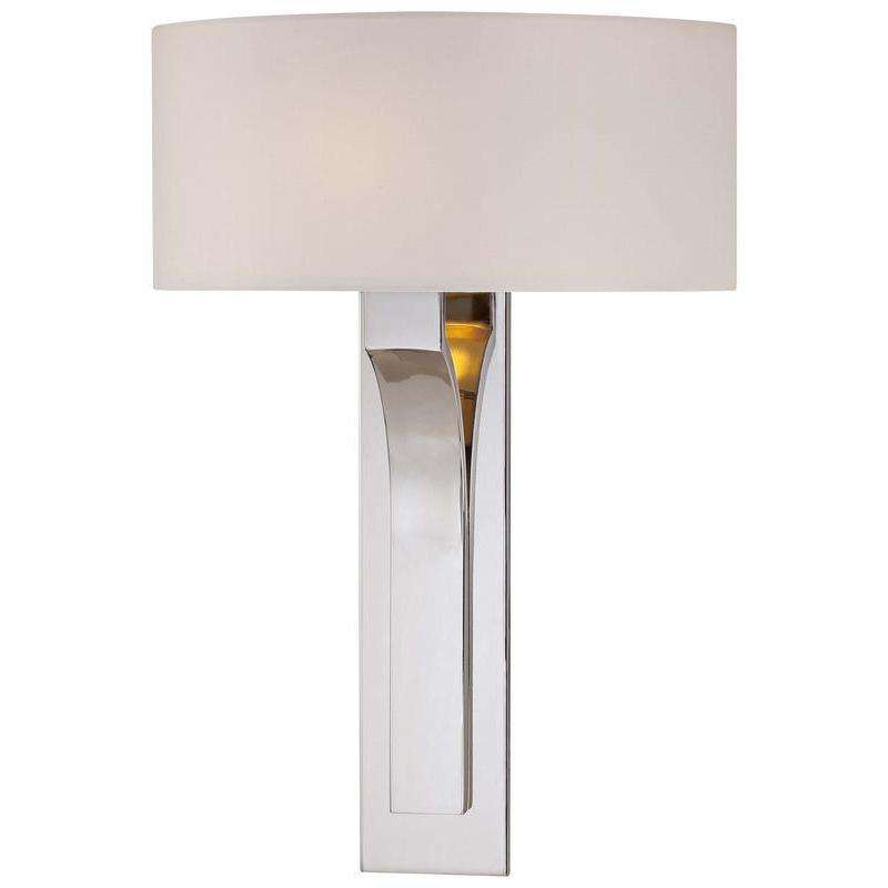 1 Light Wall Sconce Polished Nickel