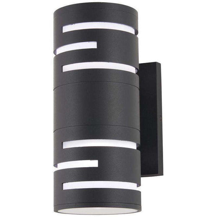Outdoor Groovin Led Wall Sconce Black