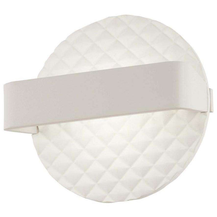 Quilted Led Wall Sconce Matte White