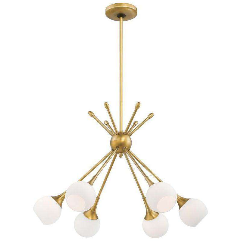 Pontil 6 Light Chandelier Honey Gold
