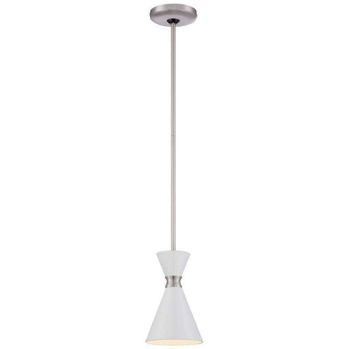 Conic 1 Light Mini Pendant Glitter Gloss White