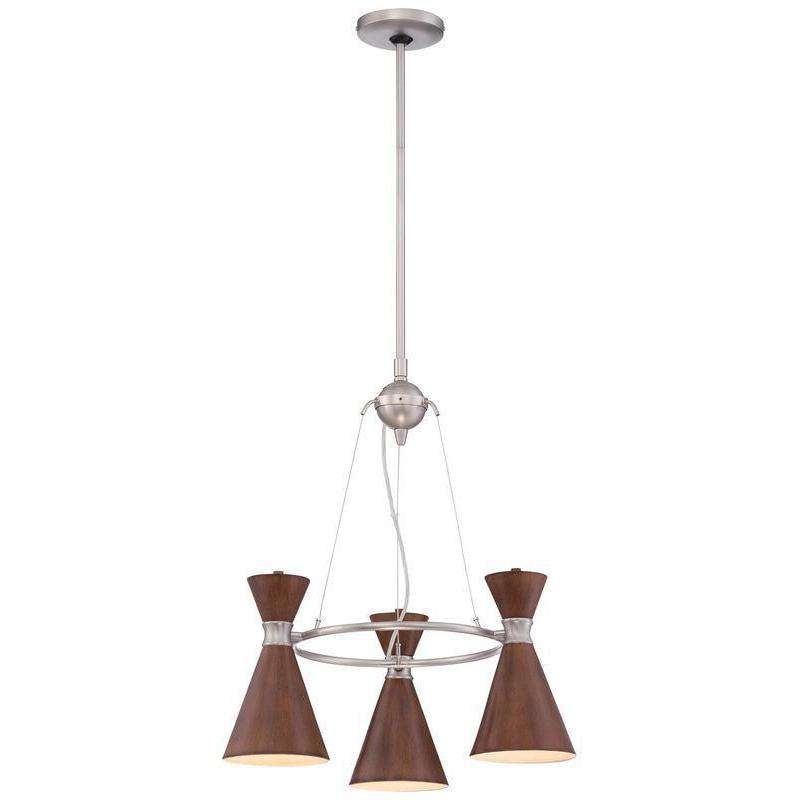 Conic 3 Light Chandelier Distressed Koa