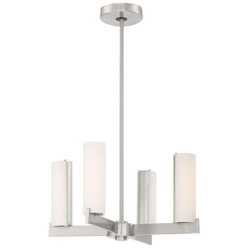 Tube Chandelier Brushed Nickel