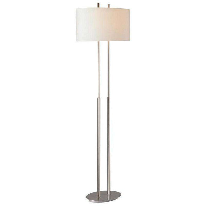 2 Light Floor Lamp Brushed Nickel