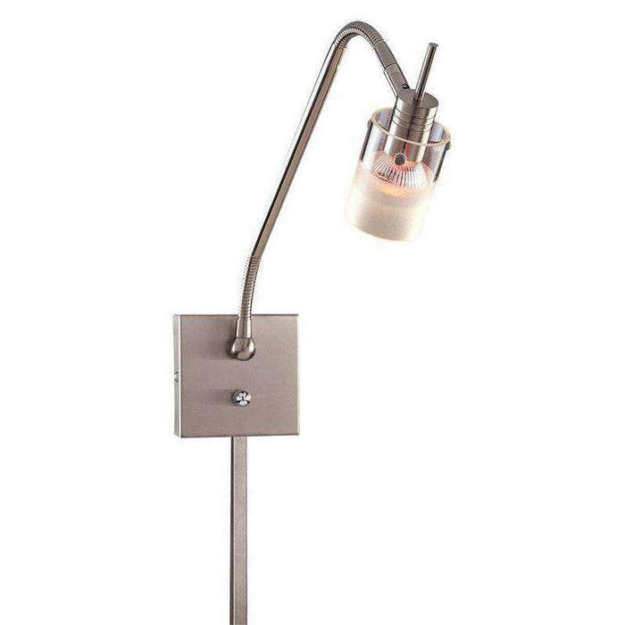 1 Light Low Voltage Wall Lamp Brushed Nickel