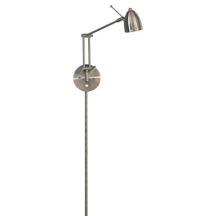 George'S Reading Room 1 Light Task Wall Lamp Brushed Nickel