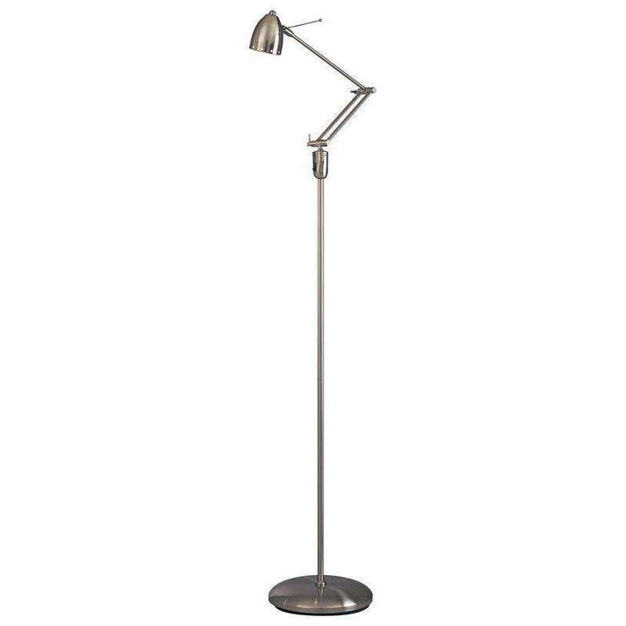 George'S Reading Room 1 Light Task Floor Lamp Brushed Nickel