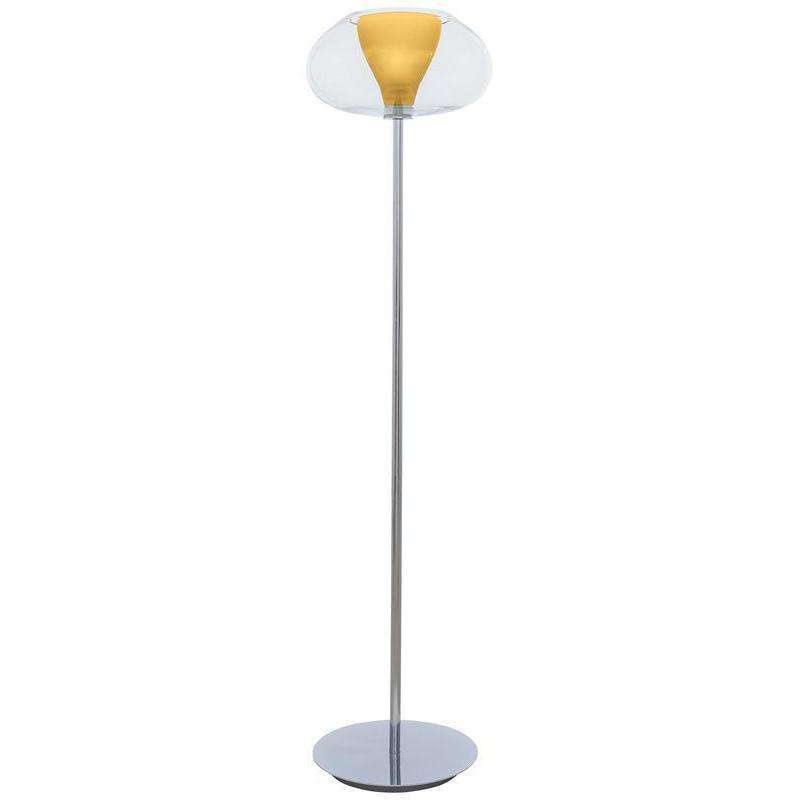 Soft 1 Light Torchiere Chrome