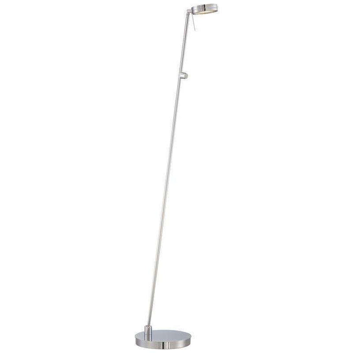 George'S Reading Room Floor Lamp Chrome