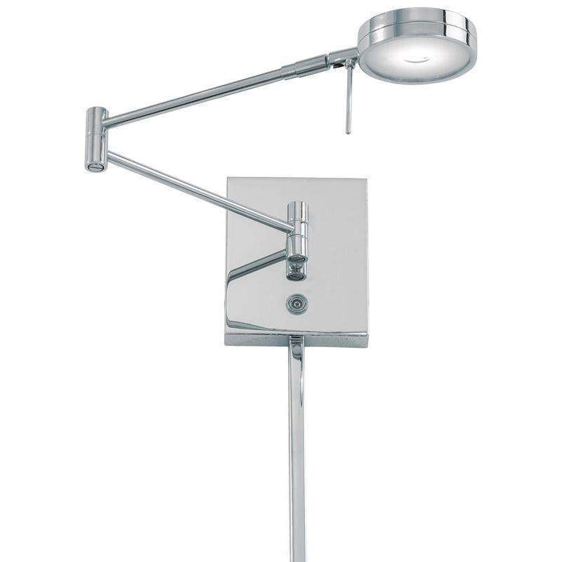 George'S Reading Room 1 Light Led Swing Arm Wall Lamp Chrome