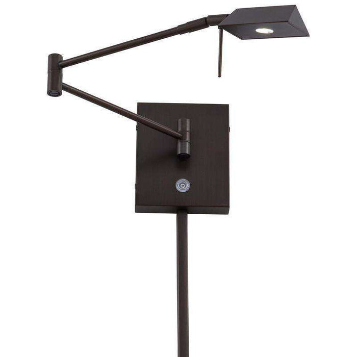George'S Reading Room 1 Light Led Swing Arm Wall Lamp Copper Bronze Patina
