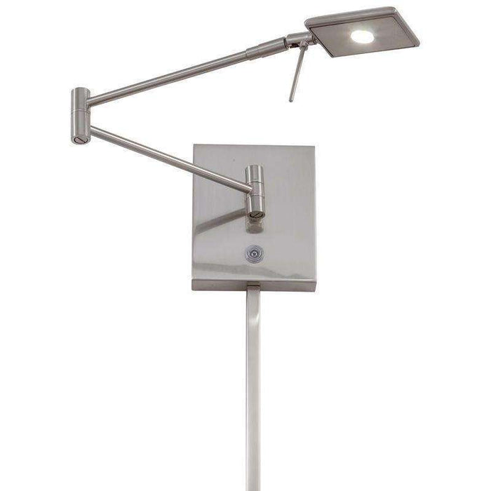 George'S Reading Room 1 Light Led Swing Arm Wall Lamp Brushed Nickel