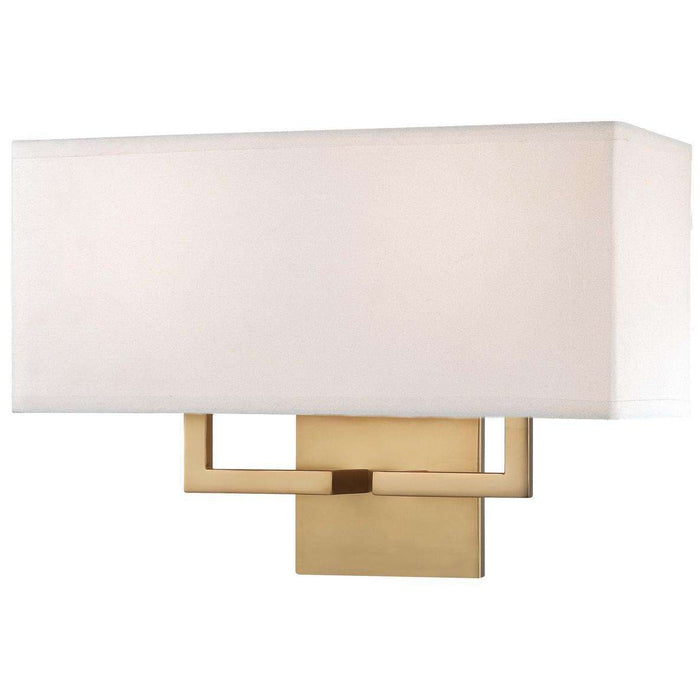 2 Light Wall Sconce Honey Gold