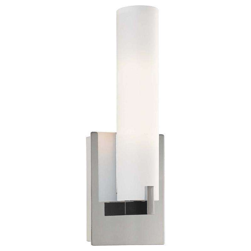 Tube 1 Light Wall Sconce Chrome