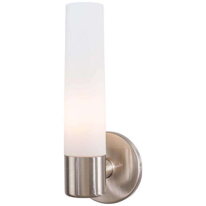 Saber 1 Light Wall Sconce Brushed Nickel