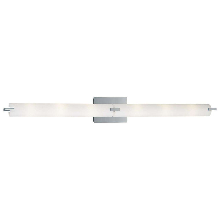 Tube 4 Light Bath Chrome