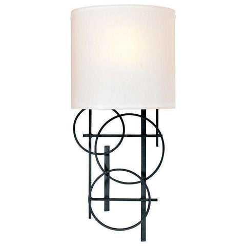 1 Light Wall Sconce Black
