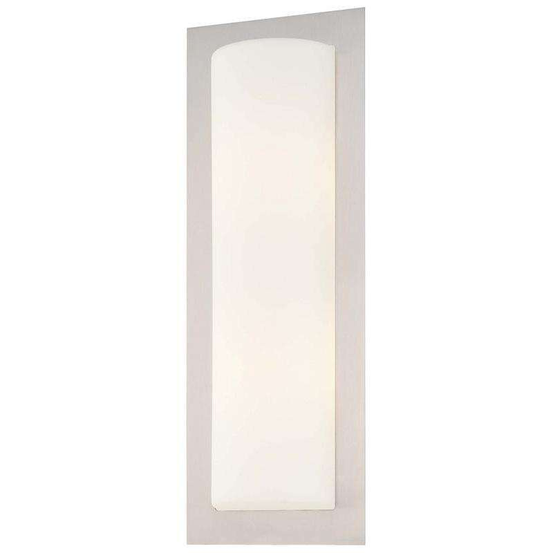 2 Light Wall Sconce Brushed Stainless Steel