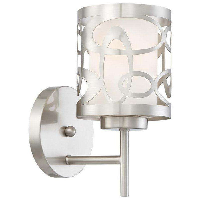 Links 1 Light Wall Sconce Brushed Nickel