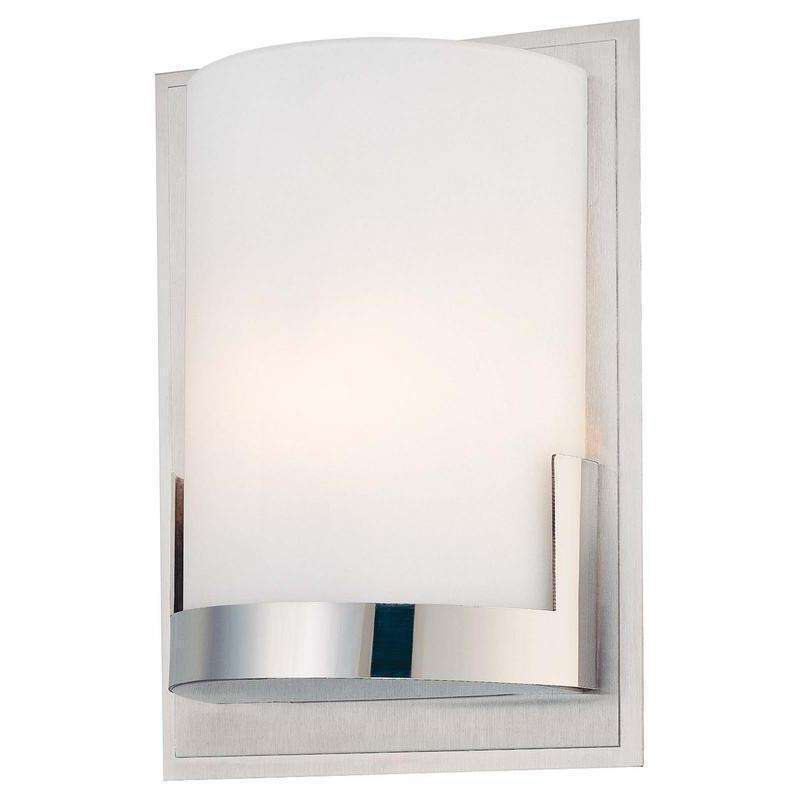 Convex 1 Light Wall Sconce Chrome