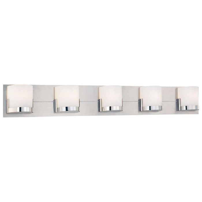 Convex 5 Light Bath Chrome